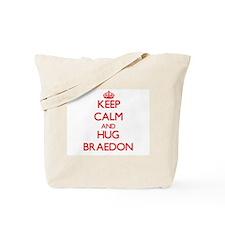 Keep Calm and HUG Braedon Tote Bag