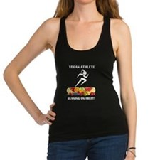 Vegan Athlete Girl Running on Fruit Racerback Tank