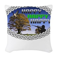 HAPPY Woven Throw Pillow