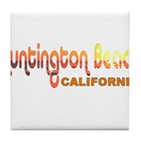 Huntington Beach, California Tile Coaster