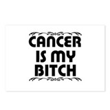 """Cancer is my Bitch"" Postcards (Package of 8)"