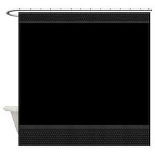Black And Gray Basket Weave Elegant Shower Curtain