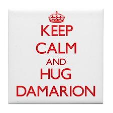 Keep Calm and HUG Damarion Tile Coaster