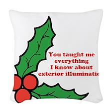 Exterior Illumination Woven Throw Pillow