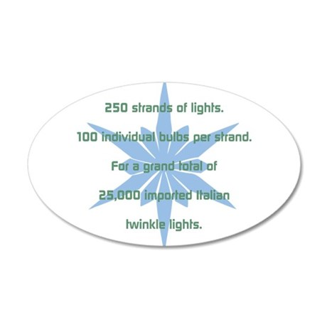 250 Strands of Light Wall Decal