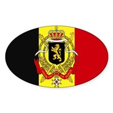 Belgium w/ coat of arms Rectangle Decal