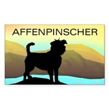 seaside affen Rectangle Decal