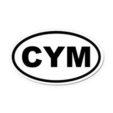 Wales CYM Oval Car Magnet