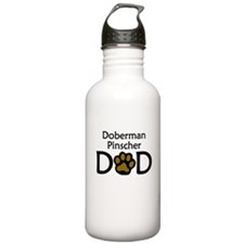 Doberman Pinscher Dad Water Bottle