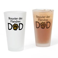 Bouvier des Flandres Dad Drinking Glass