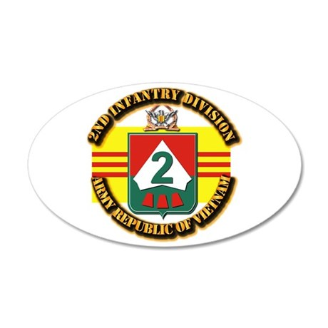 ARVN - 2nd Infantry Division 35x21 Oval Wall Decal