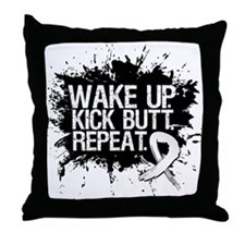 Lung Cancer Kick Butt Throw Pillow
