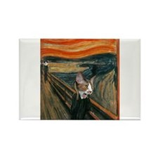 The Scream with Cats Magnets