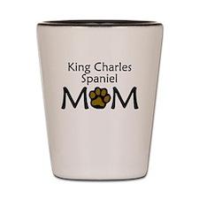 King Charles Spaniel Mom Shot Glass