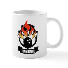 personalizable bowling logo Mugs