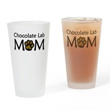 Chocolate Lab Mom Drinking Glass