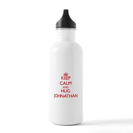Keep Calm and HUG Johnathan Water Bottle