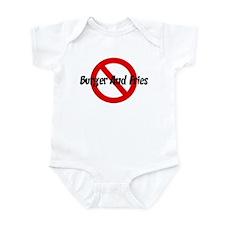 Anti Burger And Fries Infant Bodysuit