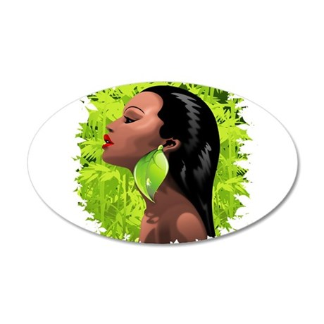 Woman African Beauty and Bamboo Wall Decal