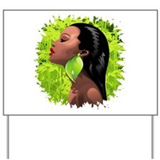 Woman African Beauty and Bamboo Yard Sign