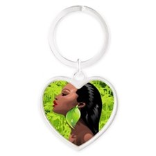 Woman African Beauty and Bamboo Keychains