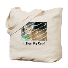 CUSTOMIZE Add Photo Love CatS Tote Bag