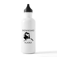 Snowboard Alaska Water Bottle