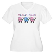 Mom of Triplets (Girls & Boy) T-Shirt