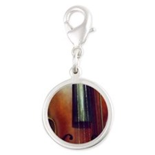 The Beautiful Viola Silver Round Charm