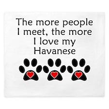 The More I Love My Havanese King Duvet