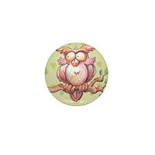 Cute Owl Mini Button
