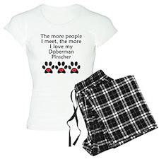 The More I Love My Doberman Pinscher Pajamas