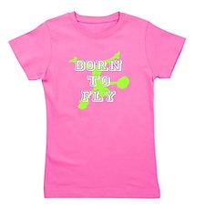 Born to Fly green cheerleader Girl's Tee