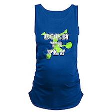 Born to Fly green cheerleader Maternity Tank Top
