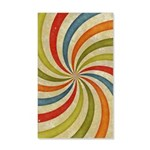Psychedelic Retro Swirl Wall Decal