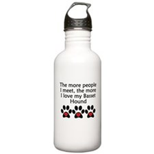 The More I Love My Basset Hound Water Bottle