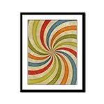 Psychedelic Retro Swirl Framed Panel Print