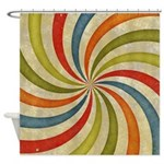 Psychedelic Retro Swirl Shower Curtain