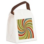 Psychedelic Retro Swirl Canvas Lunch Bag