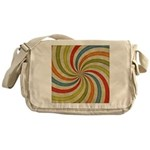Psychedelic Retro Swirl Messenger Bag