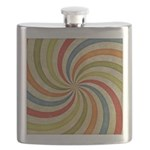 Psychedelic Retro Swirl Flask