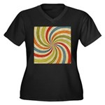 Psychedelic Retro Swirl Plus Size T-Shirt
