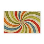 Psychedelic Retro Swirl Rectangle Car Magnet