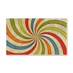 Psychedelic Retro Swirl Car Magnet 20 x 12