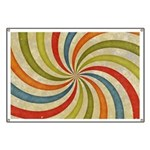 Psychedelic Retro Swirl Banner