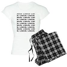 London typography pajamas