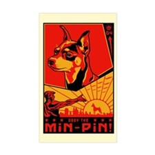 """Obey the Min Pin"" Rectangle Decal"