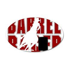 BARREL RACER [maroon] 20x12 Oval Wall Decal