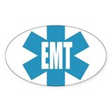 EMT Star Oval Stickers