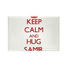 Keep Calm and HUG Samir Magnets